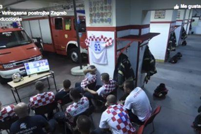 Bomberos croatas se pierden el penalti que dejó a Rusia fuera de la semifinal y pasa esto…