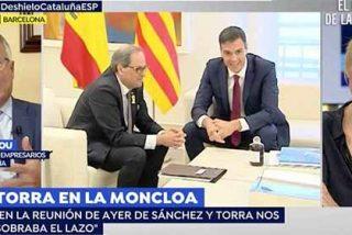 Susanna Griso vuelve a asomar la patita defendiendo el derecho de Quim Torra a lucir el lazo amarillo de los golpistas en su reunión con Pedro Sánchez