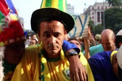 Esta cara se les quedó a los fans de Brasil tras el fin de la aventura mundialista de la canarinha