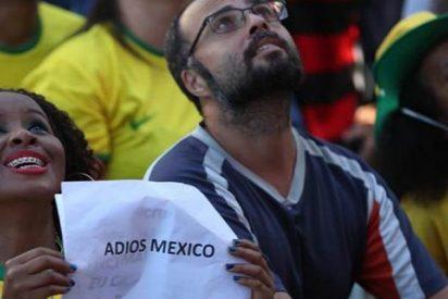 Así celebraron los brasileños la victoria frente a México