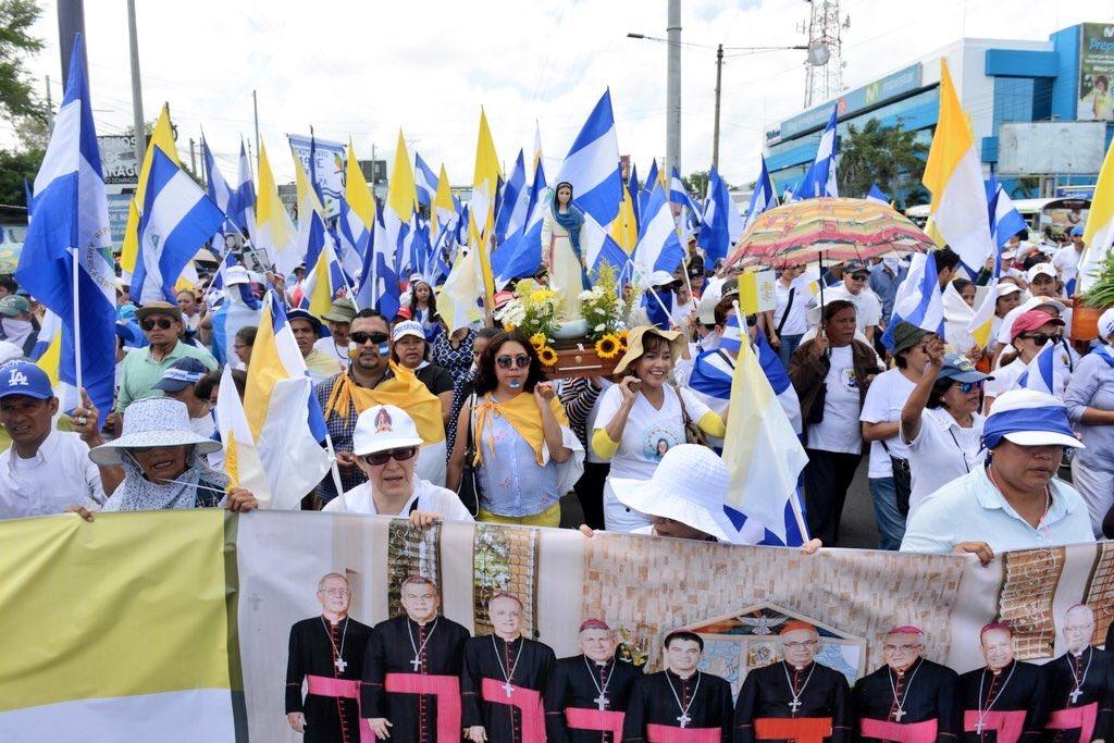 Los obispos nicaragüenses agradecen al pueblo la peregrinación de apoyo a la Iglesia