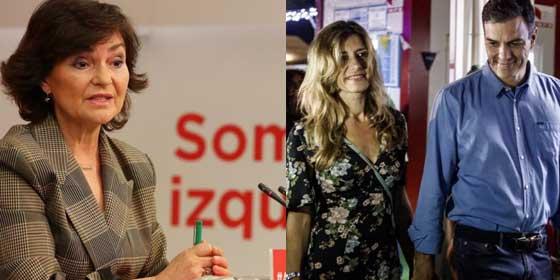 """Twitter ajusticia a la """"caradura"""" de Carmen Calvo por justificar el sarao festivalero de Pedro Sánchez como """"agenda cultural"""""""