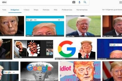 """¿Sabías que cada vez que buscas """"idiot"""" en Google aparece una foto de Trump?"""
