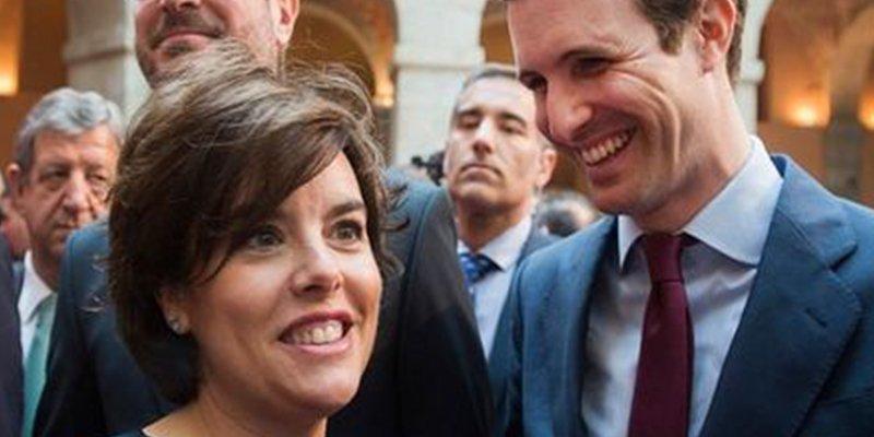El liderazgo del PP: Pablo Casado quiere un debate televisado con Soraya Sánez de Santamaría