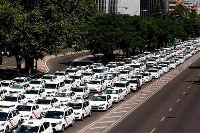 Madrid: Los taxistas acamparán una noche más en el Paseo de la Castellana