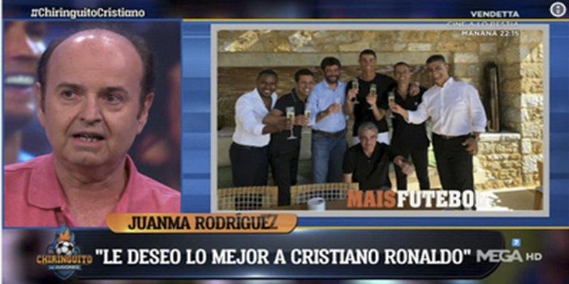 En 'El Chiringuito de Jugones' ha indignado mucho esta foto de Ronaldo tras firmar por la Juventus