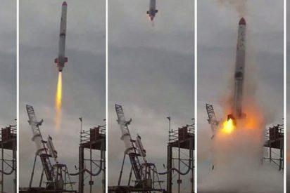 Así explota este cohete japonés poco después de su lanzamiento
