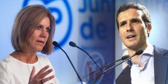 María Dolores Cospedal insta a los compromisarios del PP que la respaldan, que apoyen en masa a Pablo Casado