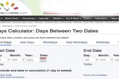 Duración entre dos fechas