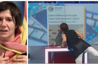 La última cerdada de la bufona golpista de TV3 deja 'pringado de babas' al juez Llarena