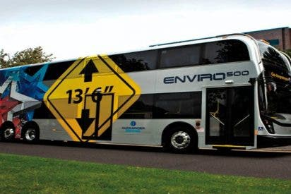 """Así es """"Enviro 500"""" el espectacular autobús eléctrico de California"""