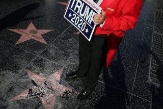 Destruyen la estrella de Trump en el Paseo de la Fama de Hollywood