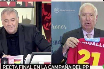 Ferreras dice que las urnas del PP para las primarias son un poco cutres y Margallo le replica que para cutre, el nivel de su tertulia