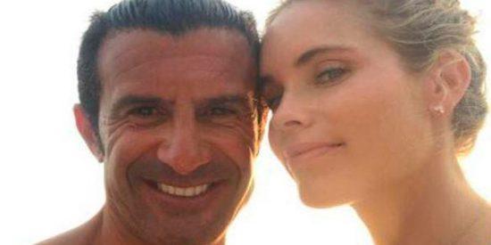Figo y Helen Svedin, una pareja 'top' en Ibiza