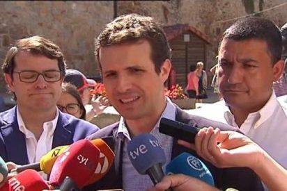 """Pablo Casado dice que """"no es posible que haya papeles para todos"""" y la izquierda pierde los suyos"""