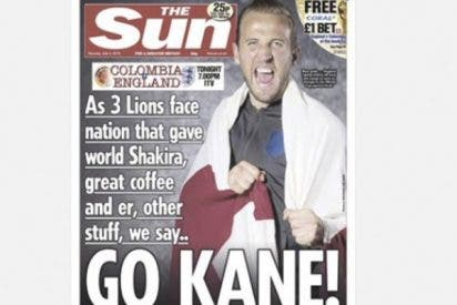 Cabreo en las redes por esta portada de The Sun sobre Colombia en vísperas del partido contra Inglaterra