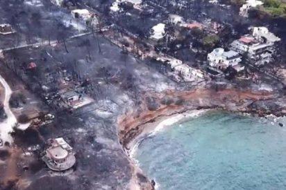 """El gobierno griego cree que los incendios que dejaron 82 muertos fueron producto de """"acciones criminales"""""""