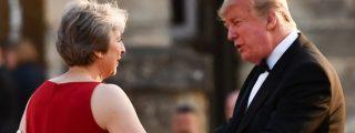 Donald Trump 'riñe' a Theresa May por optar por un Brexit 'demasiado blando'
