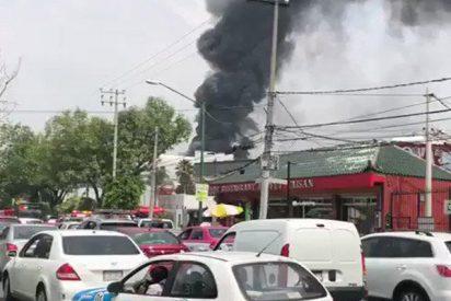Brutal incendio en un centro comercial de Ciudad de México