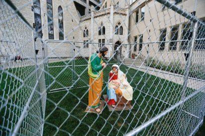 Jesús, María y José, encerrados en una iglesia de Indianápolis