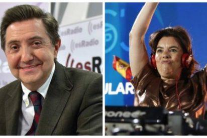 """Losantos masacra a la 'liberticida' Soraya al grito de """"tiranuela y matoncilla tronada"""""""