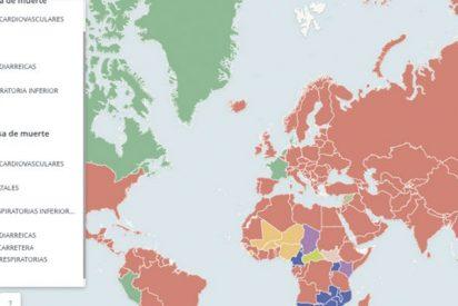 ¿Quieres saber de qué se muere la gente en cada país del mundo?