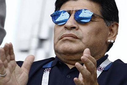 """Maradona llama """"ladrón"""" y """"drogadicto"""" a su sobrino en un programa de televisión en directo"""