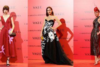 Los famosos se decantan por Carolina Herrera para la fiesta 30 aniversario de Vogue