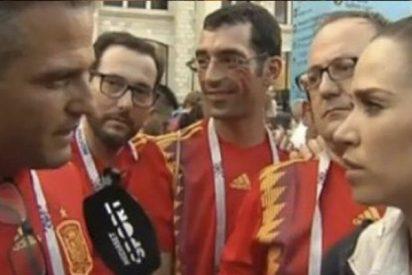 María Gómez deja con el culo al aire a un seguidor de España que se pasó de listo