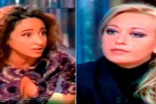 María Patiño como una poseida contra Belén Esteban en el 2002, cuando no eran amigas de 'cuchipandi'