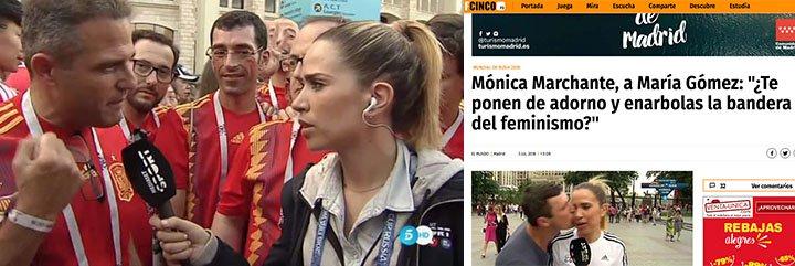 La reportera de Mediaset que se está llevando más palos que De Gea por enarbolar el feminismo y dedicarse a hablar del físico de los jugadores