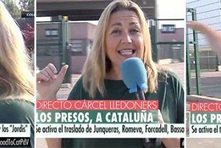 """El show de Mayka: la reportera del 'procés' llora por los golpistas presos y dice que los lazos amarillos """"adornan"""""""