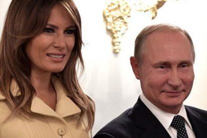 ¿Sabes por qué este video del encuentro de Melania Trump con Vladímir Putin se ha hecho viral?