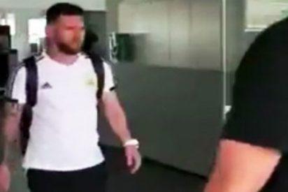 La silenciosa y triste llegada de Messi a Barcelona
