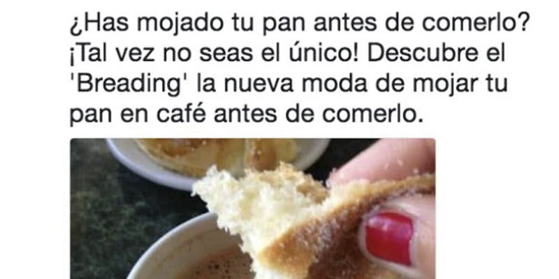"""Este tuitero acaba de descubrir la """"moda"""" de mojar el pan en el café"""
