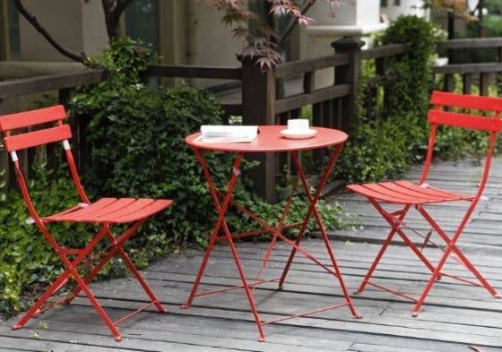 muebles de jardín acero