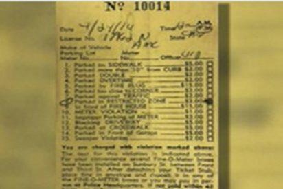 """Un hombre se """"sentía culpable"""" y decide pagar una multa de estacionamiento tras 44 años"""