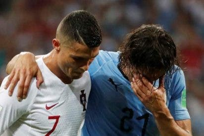 El uruguayo Cavani es baja casi segura para los cuartos de final ante Francia