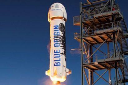 El cohete New Shepard de Jeff Bezos supera con éxito una prueba extrema