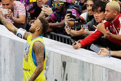 Neymar y su desproporcionada reacción contra un jugador juvenil