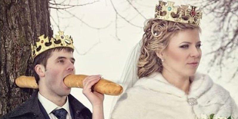 Las 40 extrañas fotos de bodas rusas que por malas son buenísimas