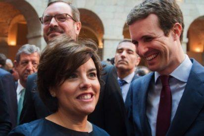 Soraya Sáenz de Santamaría afirma tener la victoria en el zurrón al vez que lo hace Pablo Casado