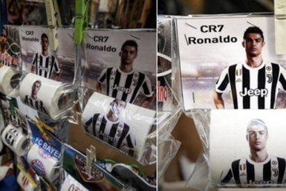 Sale a la venta papel higiénico con la imagen de Cristiano Ronaldo en el sur de Italia