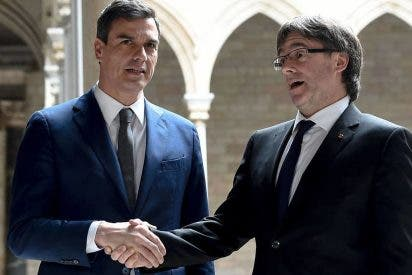 El socialista Sánchez acepta juzgar al golpista Puigdemont por delito menor y el juez Llarena le dice que 'verdes las han segado'