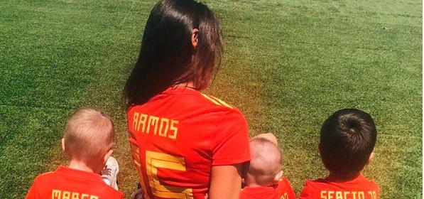 El apoyo de Pilar Rubio con sus hijos a Sergio Ramos no fue suficiente para que España pasara a cuartos