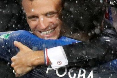 Pogba y Macron celebran con este DAB Dance la victoria de Francia en el Mundial