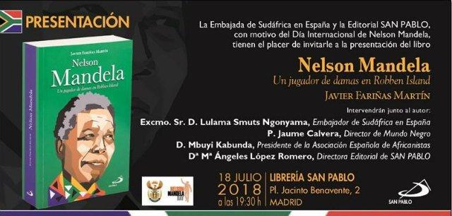 Javier Fariñas presenta en Madrid 'Nelson Mandela. Un jugador de damas en Robben Island'