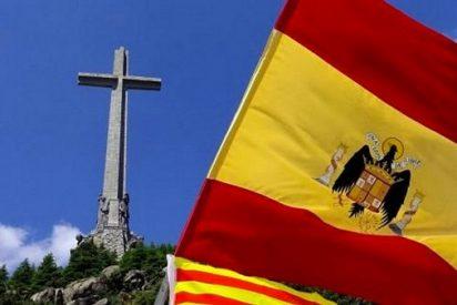 Una protesta en el Valle de los Caídos rechaza la exhumación de Franco