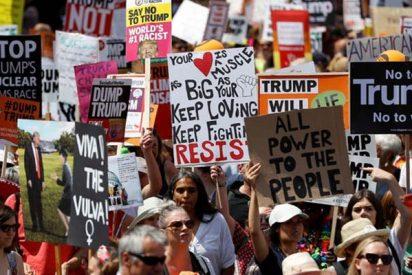 Protestas brutales en Londres por la visita de Trump