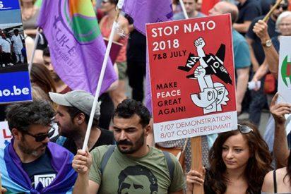 Protestas en Bruselas contra Trump y la OTAN